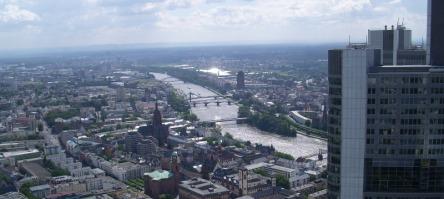 Blick vom Euro-Tower, Frankfurt