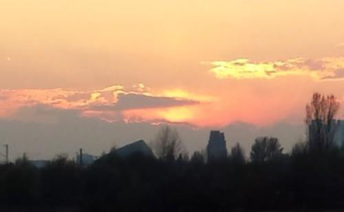 Frankfurt in der Abendsonne