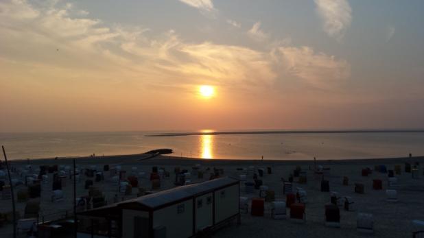 Borkum im Sonnenuntergang