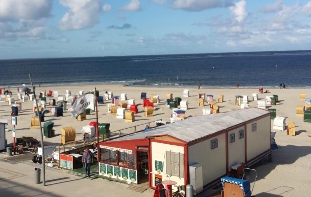Borkumer Strandleben mit Milchbude