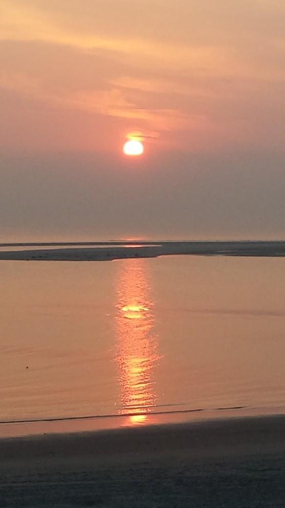 Abendrot auf Borkum, Sonnenuntergang