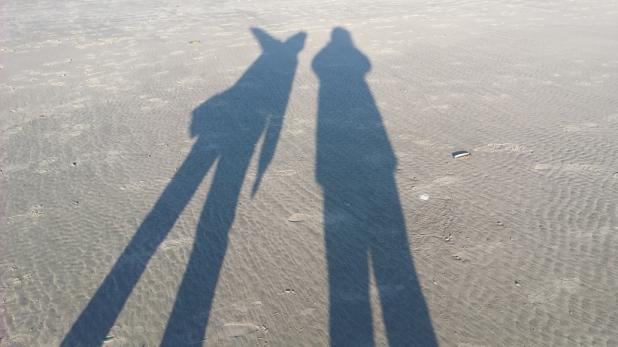 Schattenspiele Strand Juist