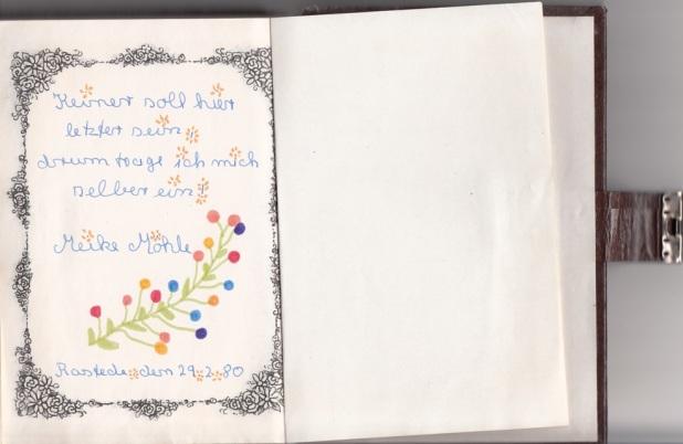 letzte Seite Poesiealbum