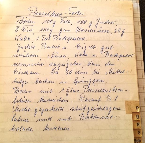 Rezept Preiselbeertorte