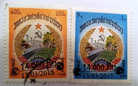 Briefmarken aus Laos