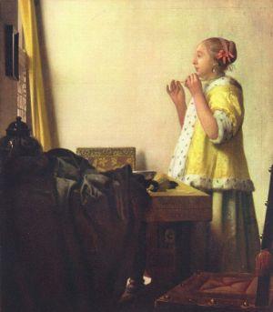 Jan Vermeer, Junge Dame mit Perlenhalsband