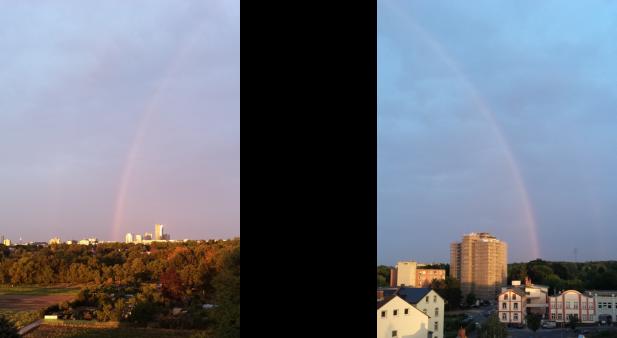 Regenbogen über Offenbach