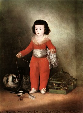 Goya , Manuel Osorio Manrique de Zuñiga, Kind im roten Anzug