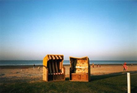 Strandkörbe, Dangast, Herbst