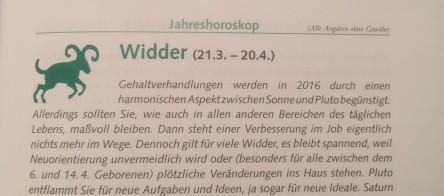 Jahreshoroskop Widder