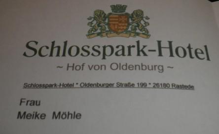 Hotelrechnung Schlosspark Hotel