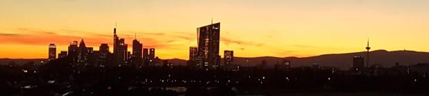 Frankfurt am Main, Skyline, Sonnenuntergang