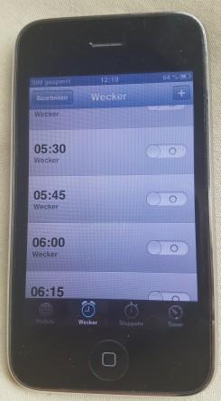IPhone 3, Wecker