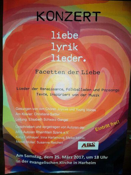 Chorkonzert in Harheim, Plakat