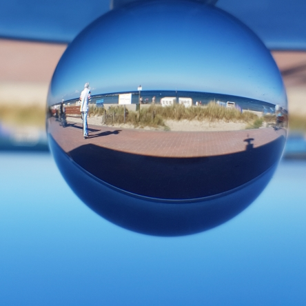 Ostsee bei Damp, Kugelfoto