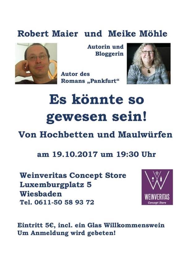 Lesung Wiesbaden, Robert Maier, Meike Möhle