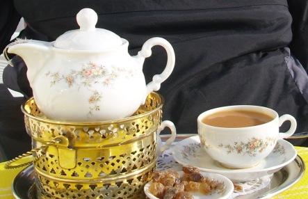 Teegedeck, Ostfriesland, ostfriesische Teezeremonie
