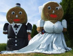 Brautpaar, Heuballen