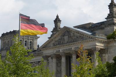 Reichstag, deutsche Fahne, Flagge