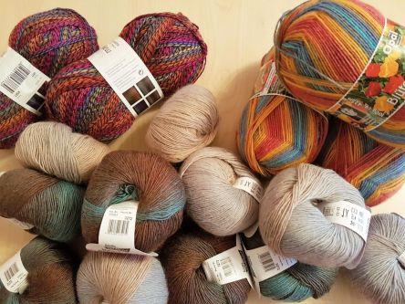 Wolle, Sockenwolle, Farbverlaufswolle