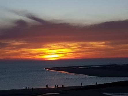 Sonnenuntergang auf Borkum