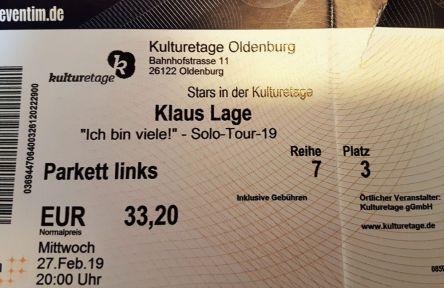 Konzert, Klaus Lage, Kulturetage, Oldenburg