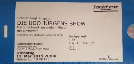 Eintrittskarte, Udo Jürgens
