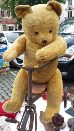 Teddybär auf Dreirad