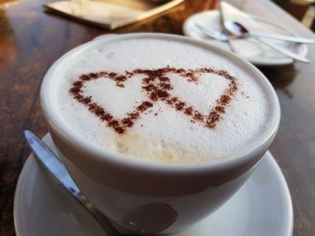 Kaffee, Herzchen, Milchschaum