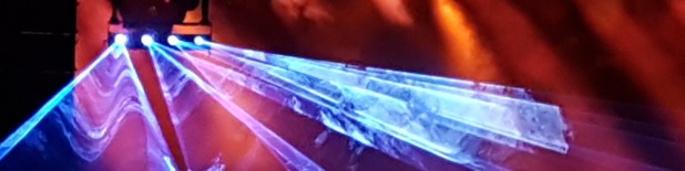 Laser und Kunstnebel