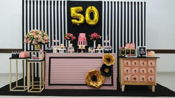 Dekoration zum 50. Geburtstag